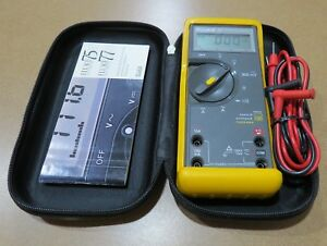 Fluke 77 Series Ii Multimeter With Hard Case Probes And Manual