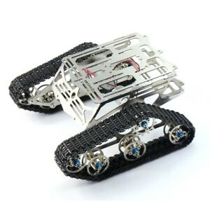 New Robot Chassis Track Arduino Tank Chassis Wali W Motor Stainless Stee F17340