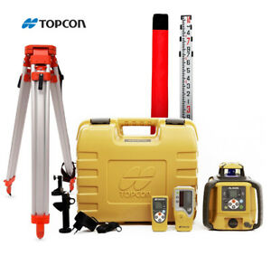 Topcon Rl sv2s Rechargeable Battery Dual Grade Laser Level With Ls 80l Receiver