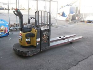 2010 Caterpillar Double Electric Pallet Jack 96 Forks 6 000 Lb Capacity