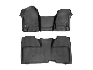 Weathertech Floorliner Mats For Silverado Sierra Crew Cab 1st Oth 2nd Row Black