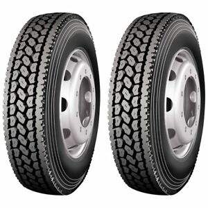 2 X Commercial Truck Tires 285 75r24 5 144 141l 14 Ply Close Shoulder Drive Tire