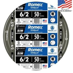Southwire Romex Simpull 50 6 2 Non Metallic Wire By The Roll 28894422