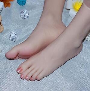 Lifelike Top Quality Silicone Girl Feet Mannequin Arbitrarily Bent Soft Zsell