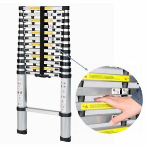 Aluminium Telescopic Ladder Extension Foldable Heavy Duty Durable Steps 12 5