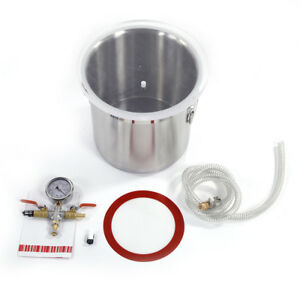 New 3 Gallon Vacuum Chamber And 5cfm 1 3 Hp Vacuum Pump To Degassing Silicone