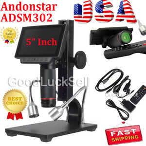 Andonstar Digital Adsm302 Microscope Fr Mobile Phone Watch Rapair Soldering Tool