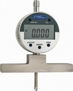 Fowler 0 To 22 Inch Alloy Steel Electronic Depth Gage 0 0008 Inch Accuracy