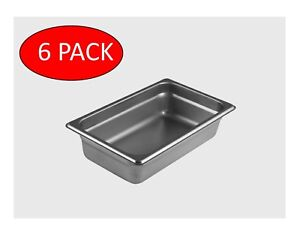 Starkcook 6 Pack Steam Table Pan 1 4 Size Stainless Steel Stpq222