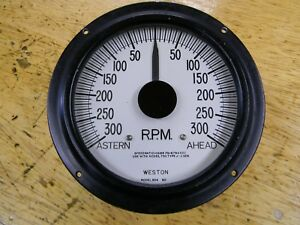 Vintage Weston Electric Astern ahead Rpm Tachometer Gauge Model 954 Nice