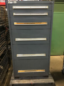 Stanley Vidmar 6 Drawer Cabinet Industrial Tool Box Storage