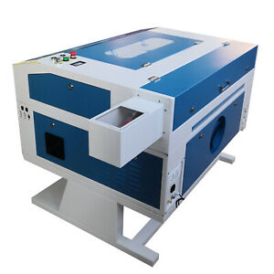 60w Co2 Laser Engraving Cutting Machine 700 500mm With Water Pump