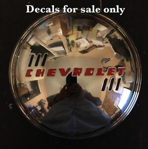 1939 Chevy Master Deluxe Convertible Standard Coupe Sedan Delivery Hubcap Decal