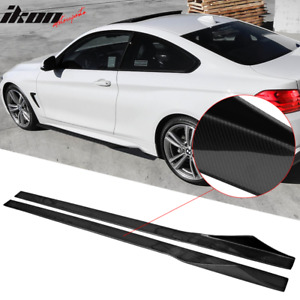 Fits 14 20 Bmw F32 81 Inches Side Skirts Extension Splitter Carbon Fiber Cf