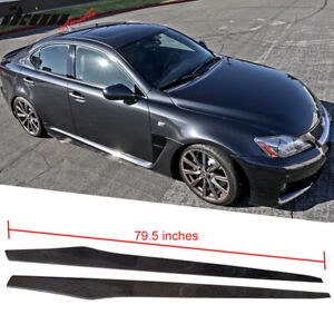 Fits 06 13 Lexus Is250 Is350 Isf Side Skirt Extension Flat Lip Carbon Cf