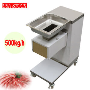 New Stainless Commercial Meat Slicer Cutting Machine Cutter 500kg h 3mm Blade