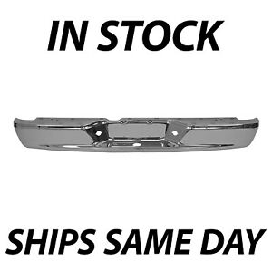 New Chrome Steel Rear Bumper Face Bar For 2005 2010 Dodge Dakota Pickup 05 11