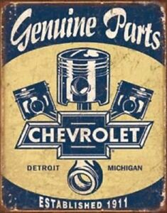 Chevy Parts Pistons Vintage Style Metal Signs Man Cave Garage Decor 69
