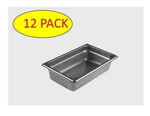 Starkcook 12 Pack Steam Table Pan 1 4 Size Stainless Steel Stpq242