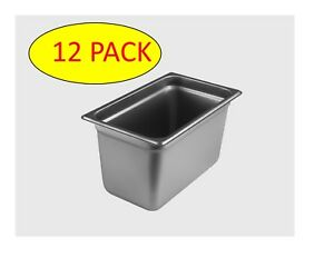 Starkcook 12 Pack Steam Table Pan 1 4 Size Stainless Steel Stpq246