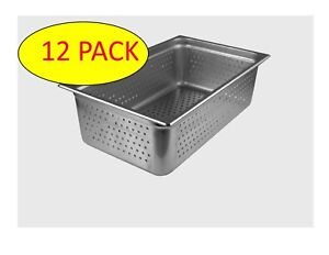 Starkcook 12 Pack Steam Table Pan Full Size Stainless Steel Stpf246p