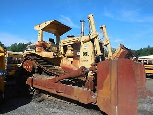 Used 1985 Cat D9l 14y Crawler Dozer Good Condition