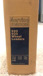 Caterpillar Cat 920 930 Wheel Loader Tractor Shop Service Repair Manual