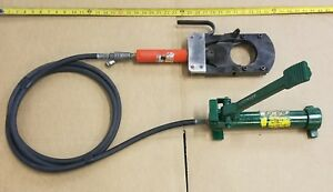 Ensley Hydraulic Wire Cable Copper Cutter W Greenlee 1725 Foot Pump Up To 3