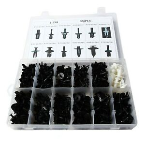 350pcs Auto Car Panel Moulding Assortments Kit Push Retainer Pin Rivet Trim Clip