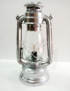Vintage Style Brass Hurricane Electric Lantern Table Lamp Home Decor 13