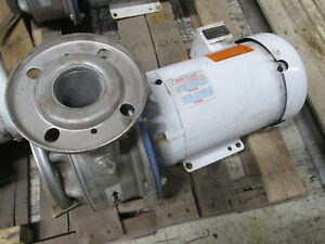 Goulds Stainless Steel Pump W Motor 6shk6pl Size 2 1 2 X 3 6 3hp Used