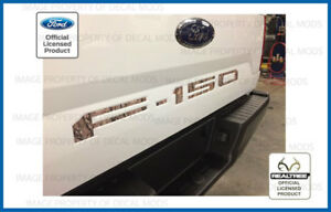 2018 Ford F150 Tailgate Insert Decals Letters Indent Stickers Camo Realtree Ap