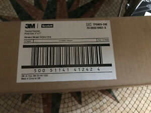3m Thermal Laminating Pouches 5 X 7 Inches Scotch Box Of 12 100 Pouches In Each