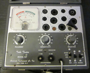Accurate Instrument Co Inc Model 157 Tube Tester