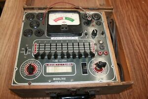 Vintage Superior Instruments Tube Tester Tv 11 In Original Wooden Case