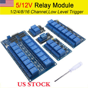 Arduino 1 2 4 8 16 Channel Raspberry Pi Arm Avr Dsp Pic Plc Relay Module 5v 12v