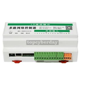 10 In 10 Out 16a Network Relay Controller Web Tcp Udp Offline Timer Android Pc
