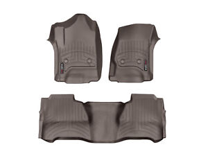 Weathertech Floorliner Mats For Silverado Sierra Crew Cab 1st 2nd Row Cocoa