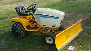 Cub Cadet 1641 Tractor With Snow Plow 16hp V Twin Motor