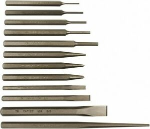 Mayhew 12 Piece Center Cold Line up Pin Prick Solid Punch Cold Chisel