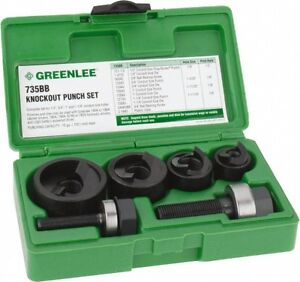 Greenlee 10 Gage Capacity Manual Round Knockout Punch Set 0
