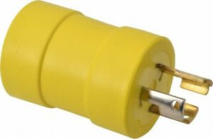 Woodhead Electrical 1 Outlet 125 Vac 15 Amp Yellow Single Outlet Adapter
