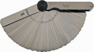 Starrett 31 Piece 0 0015 To 0 035 Thick Parallel Feeler Gage Set 3 1 32 L
