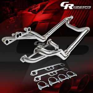 For 96 01 Ram 5 2 5 3 5 9l V8 Stainless Steel Metallic Long Tube Header Manifold