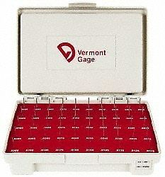 Vermont Gage 50 Piece 0 0115 0 0605 Inch Diameter Plug And Pin Gage Set Plus