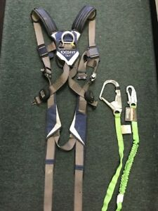 Exofit Nex Full Body Harness Back D ring Size Med Dbi Sala Shockwave2 Lanyards