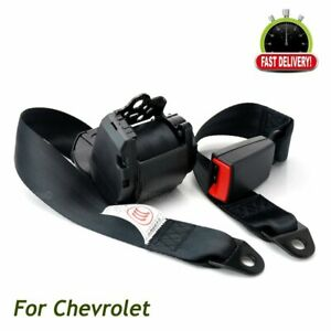 Fits Chevrolet 3 Point Harness Retractable Safety Drive Seatbelt Mount Universal