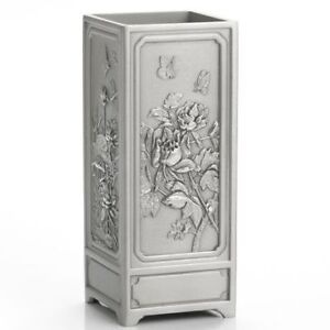 Royal Selangor Hand Finished Four Seasons Collection Pewter Pen Pencil Holder