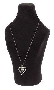 Black Flocked Jewelry Bust 10 Included