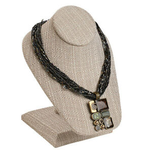 Linen Necklace Display On Stand 3 Included